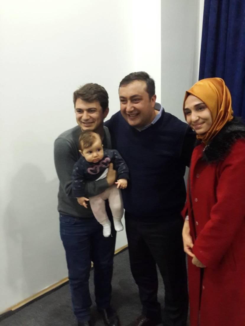 Asya Bebek ile değerli Anne ve Babası ile Ankara Kitap Fuarında söyleşi sonrası bir arada idik
