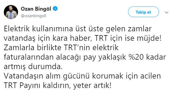 TRT ELEKTRİK PAYI